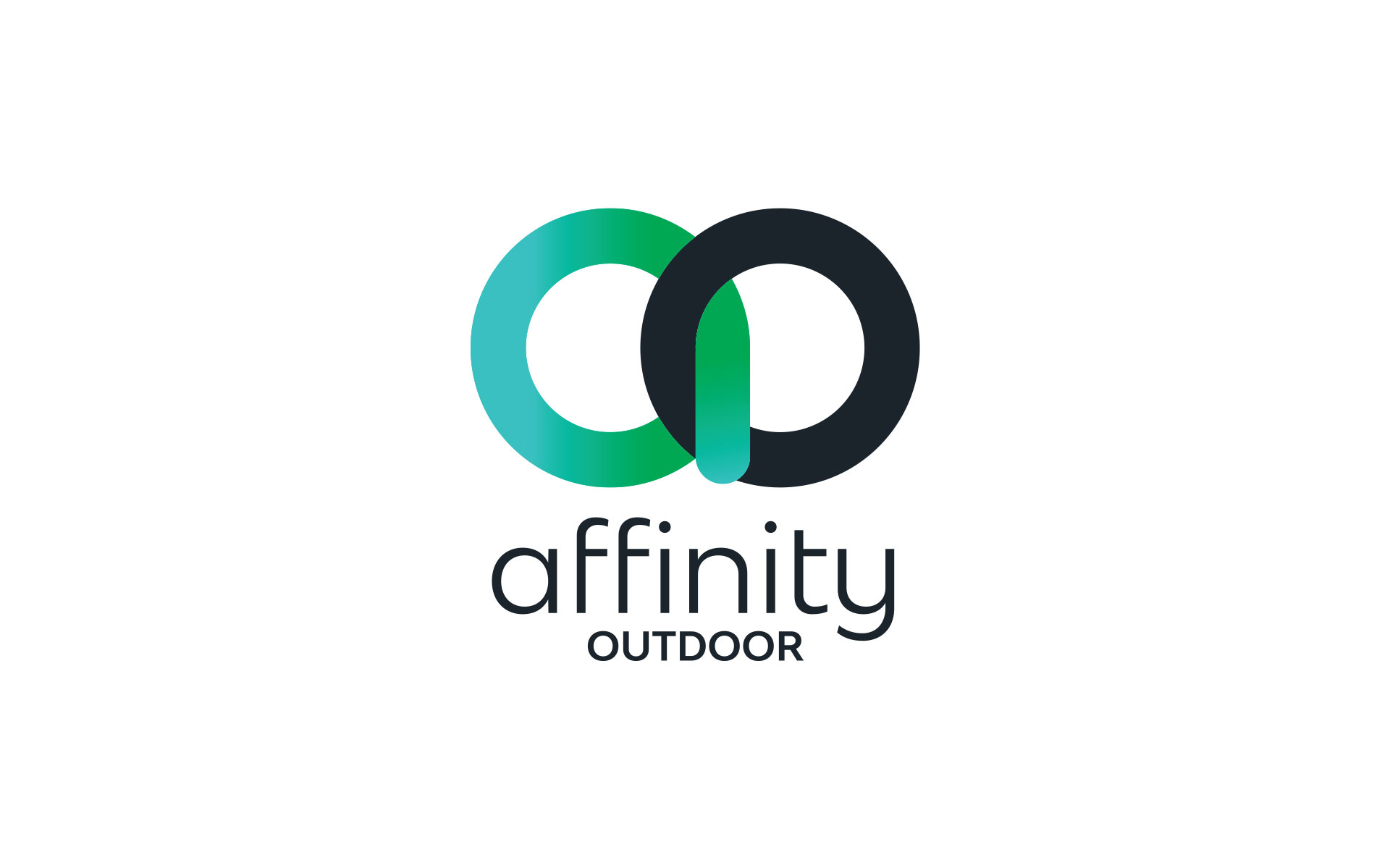 Affinity Outdoor logo, branding, powerpoint & website designed & built by Amy at Yellow Sunday