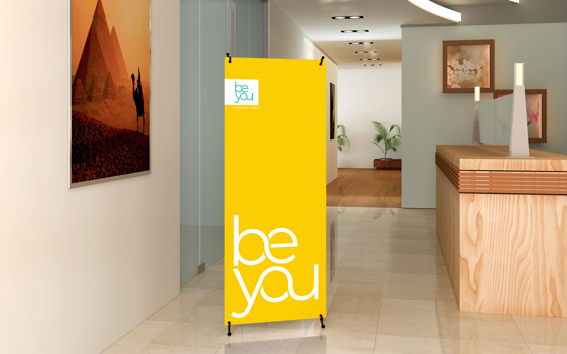 Be You Consulting logo, branding & marketing items designed by Amy at Yellow Sunday