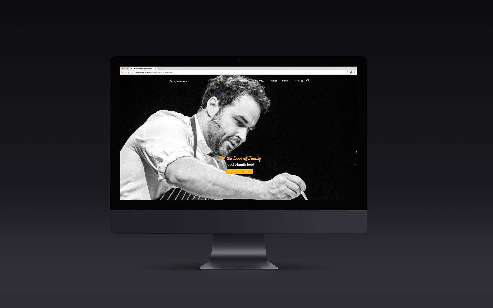 Miguel Maestre logo, branding, marketing & website design & build by Amy at Yellow Sunday