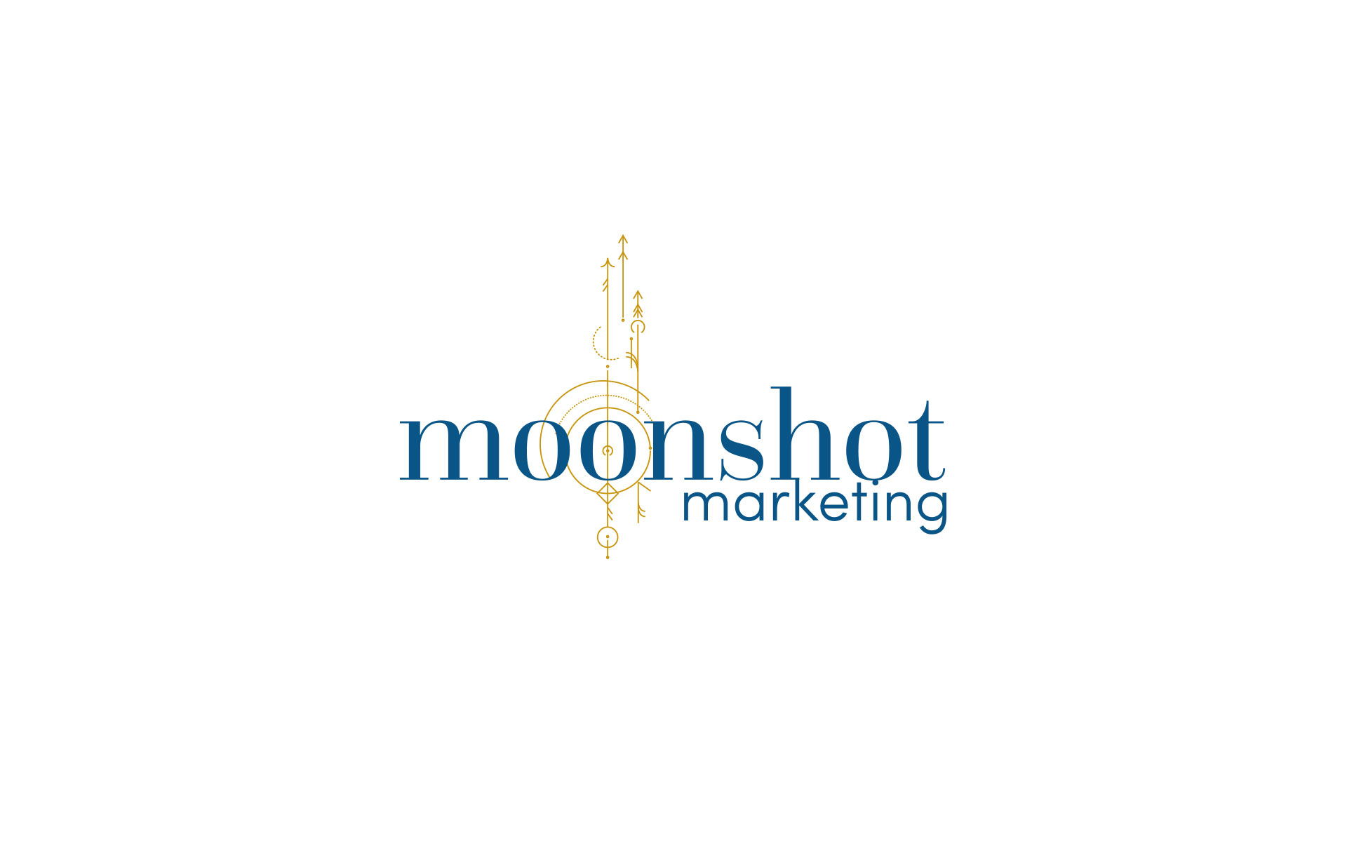 Moonshot Marketing logo, branding & online designed by Amy at Yellow Sunday