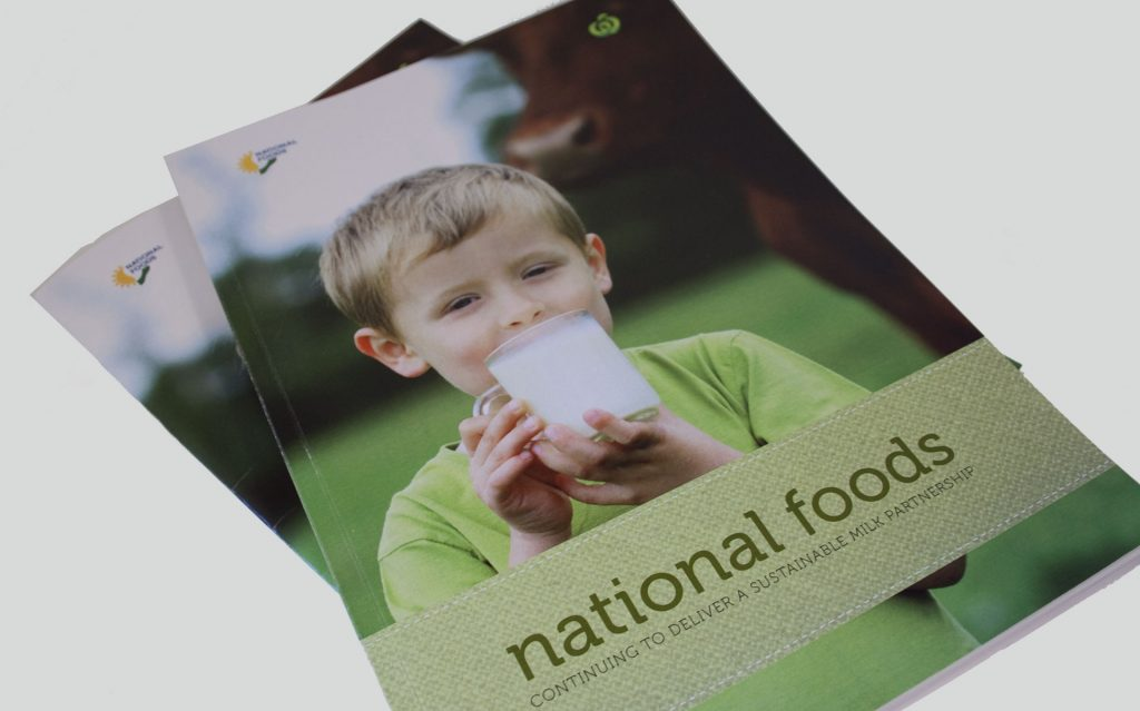 National Foods publication design by Amy at Yellow Sunday