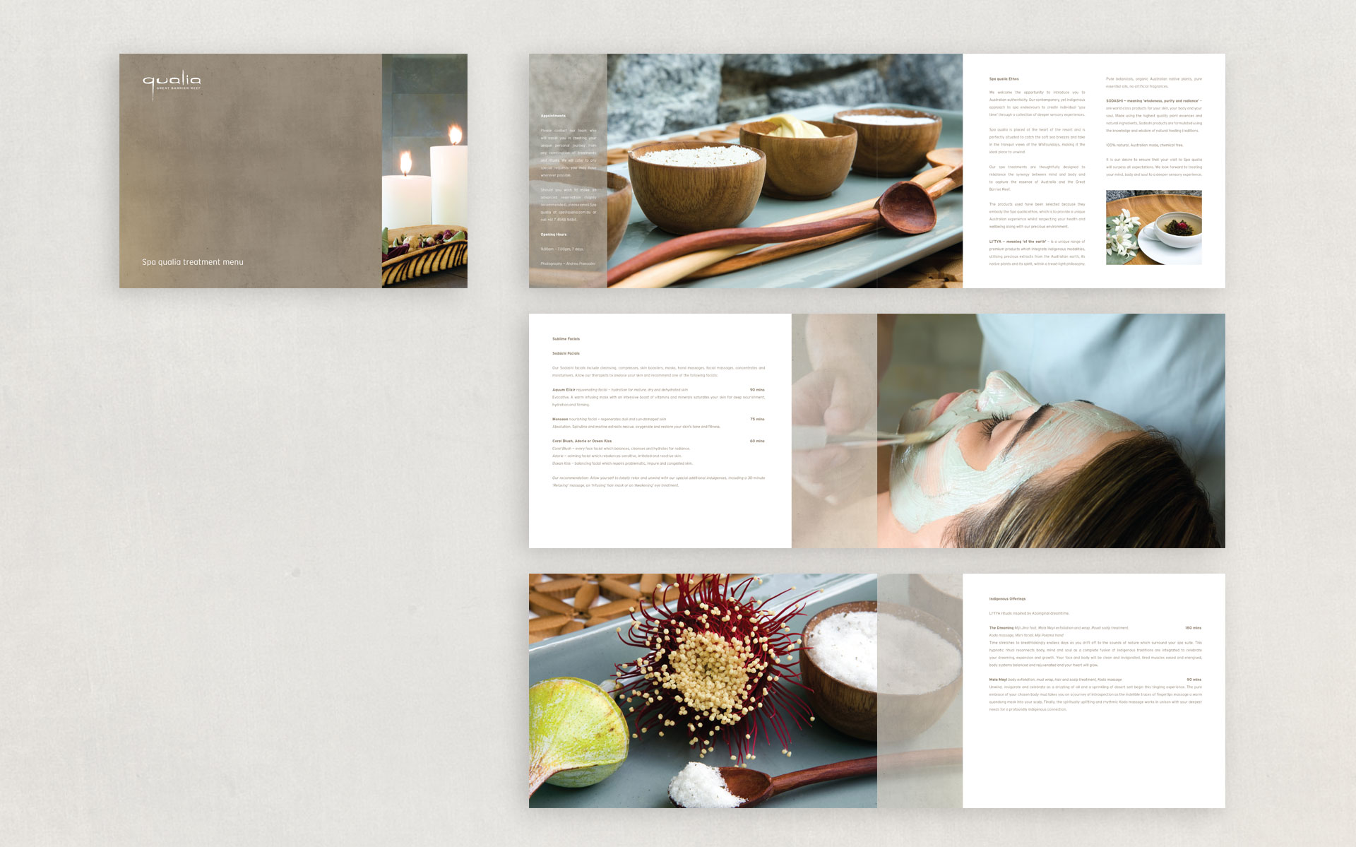 qualia marketing, publications & advertising designed by Amy Howard