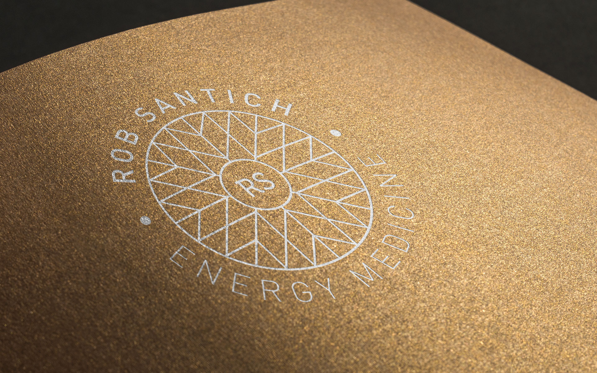 Rob Santich Energy Medicine logo & branding designed by Amy at Yellow Sunday