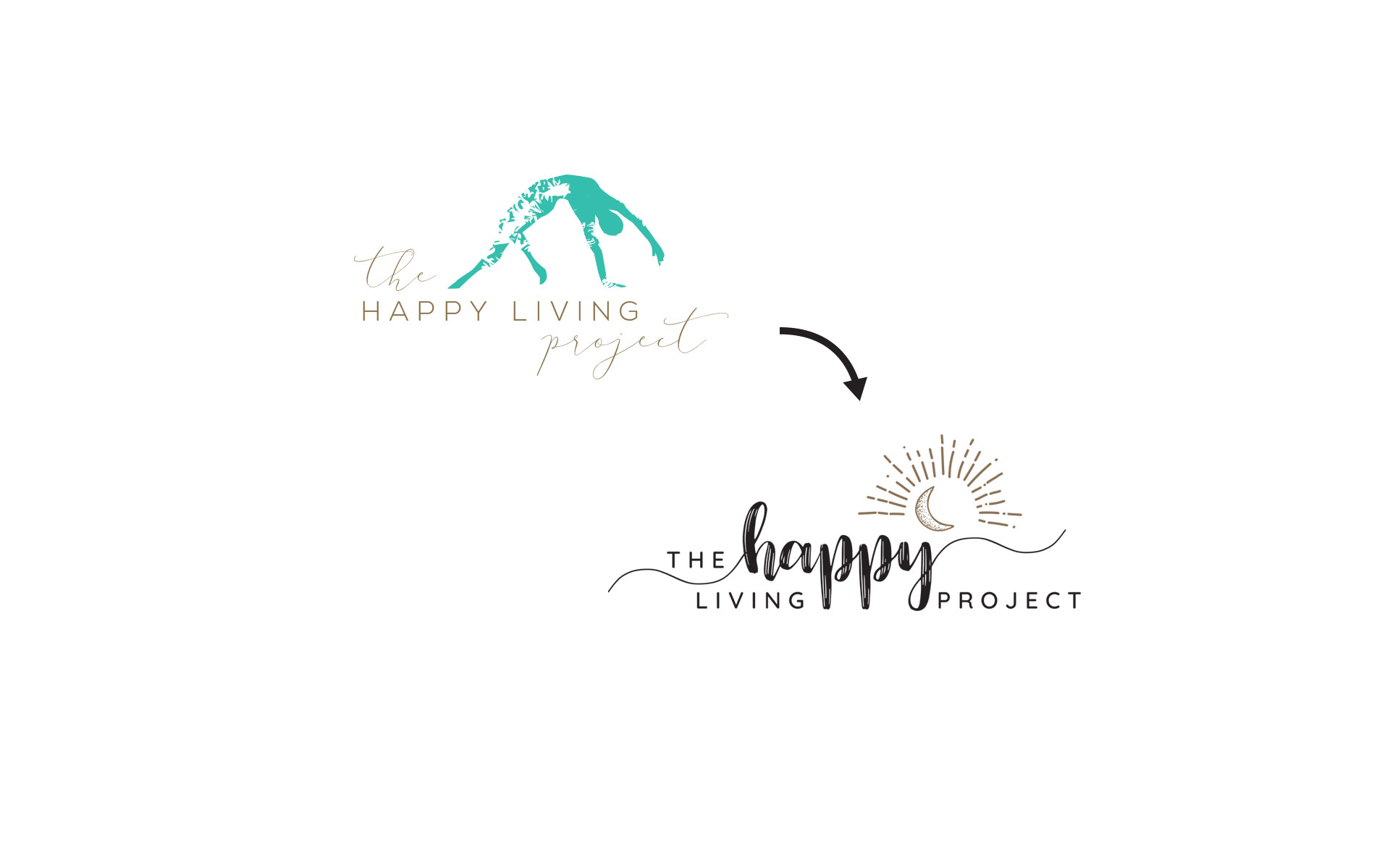 The Happy Living Project branding, marketing & online work designed by Amy at Yellow Sunday