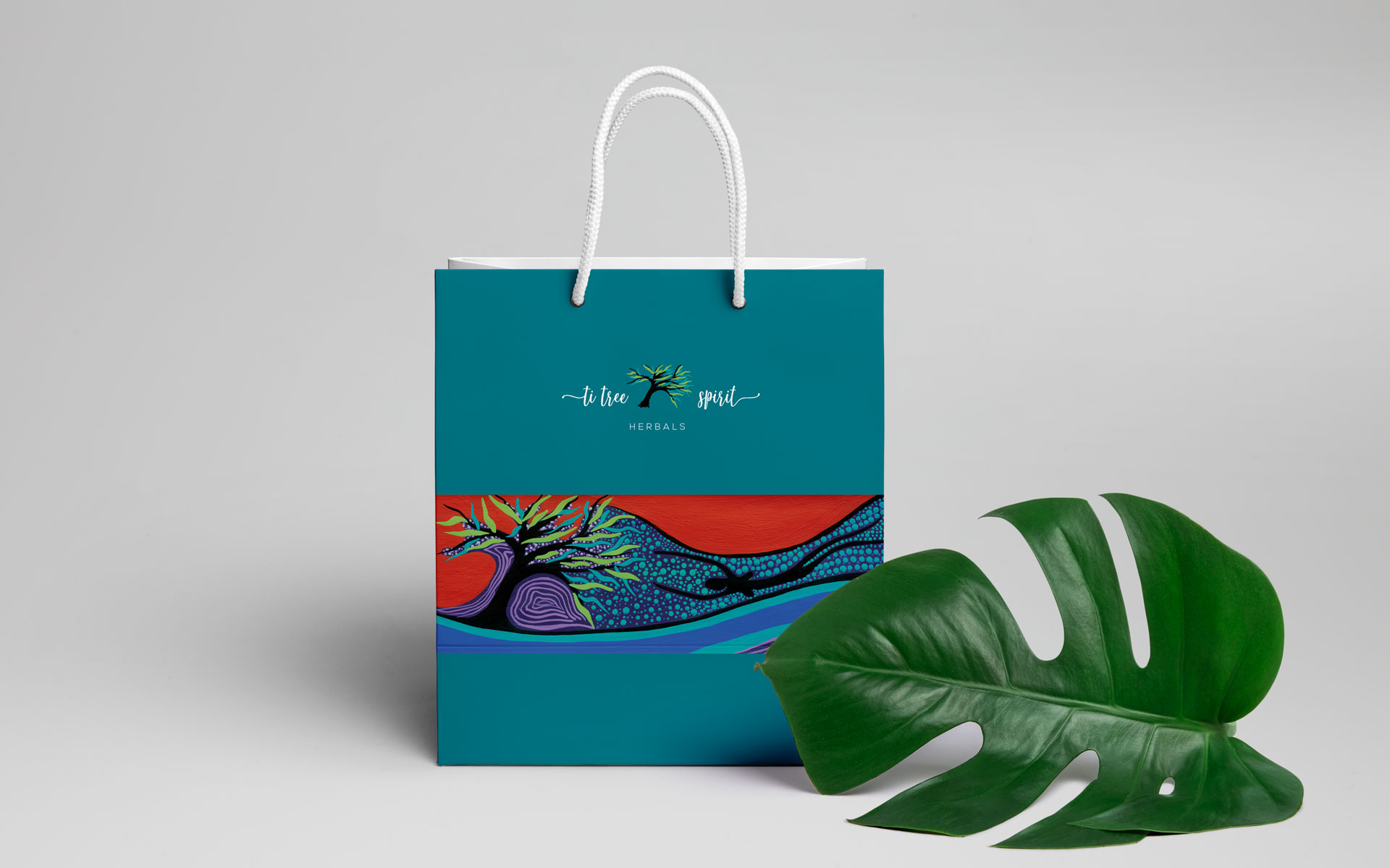 TiTree Spirit Herbals logo, branding, packaging, marketing, events & online designed by Amy at Yellow Sunday