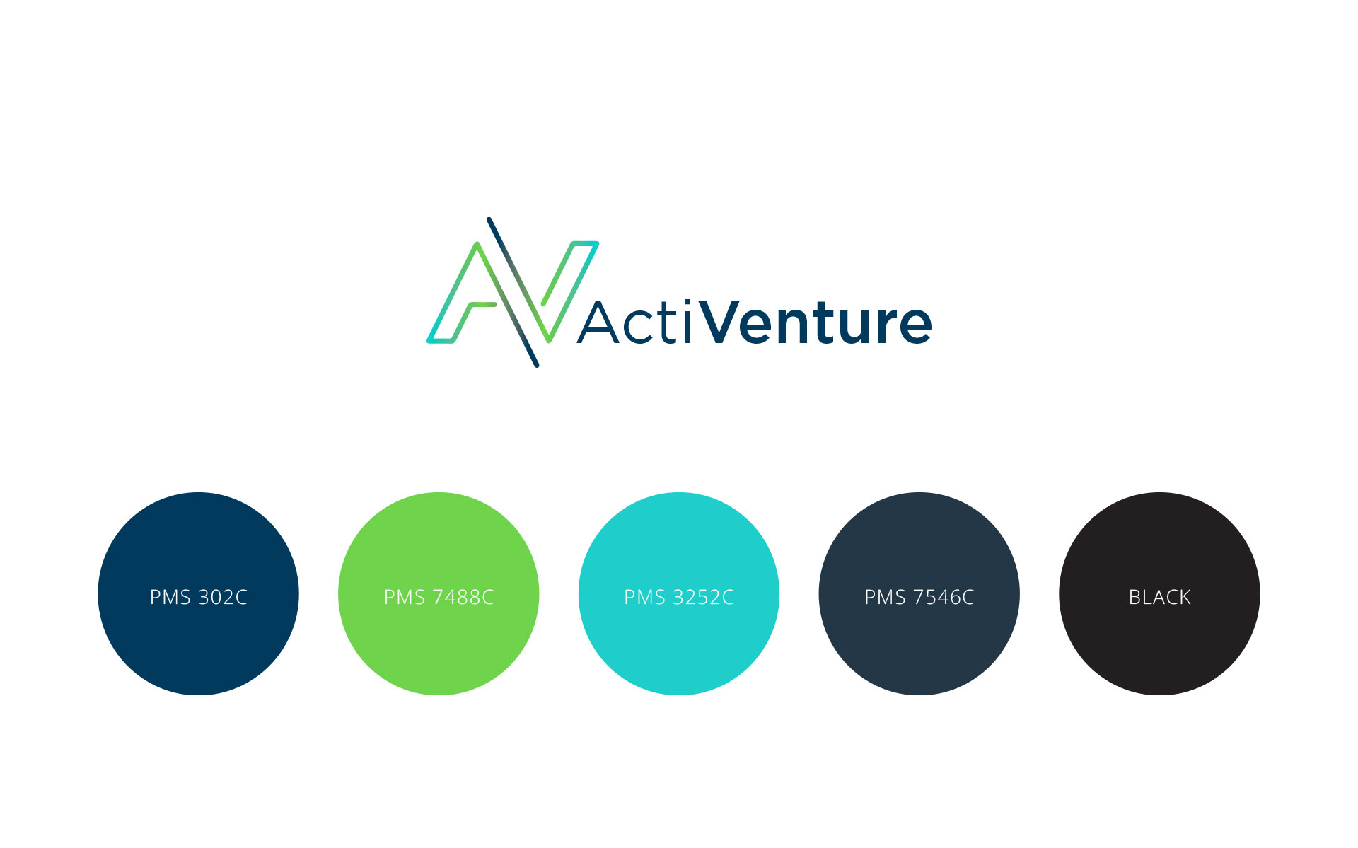 Activenture logo & branding designed by Amy at Yellow Sunday